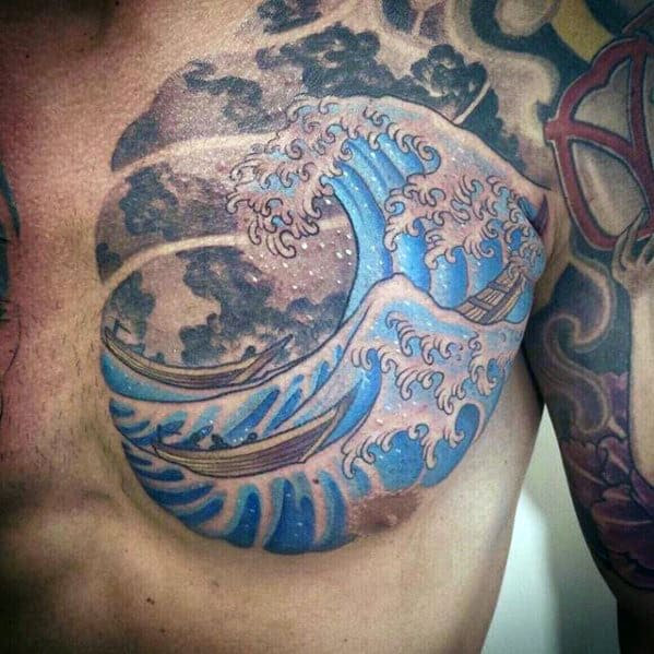 79d2c9081 60 Japanese Wave Tattoo Designs For Men Oceanic Ink Ideas