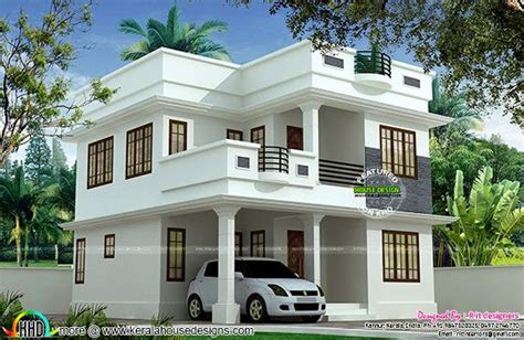 sq ft cute double storied house kerala home design