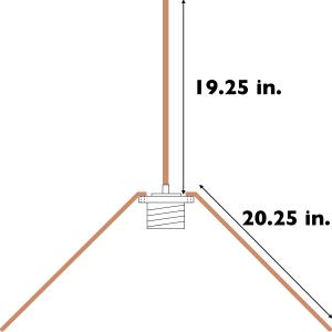 Ham Antenna Blog: Building a 2m quarter-wave ground-plane