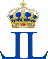 Archivo:Royal Monogram of King Louis XVIII of France.svg
