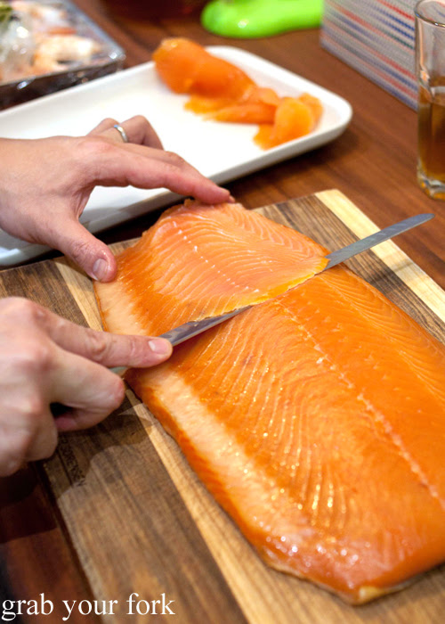 Home-cured and home-cold smoked salmon