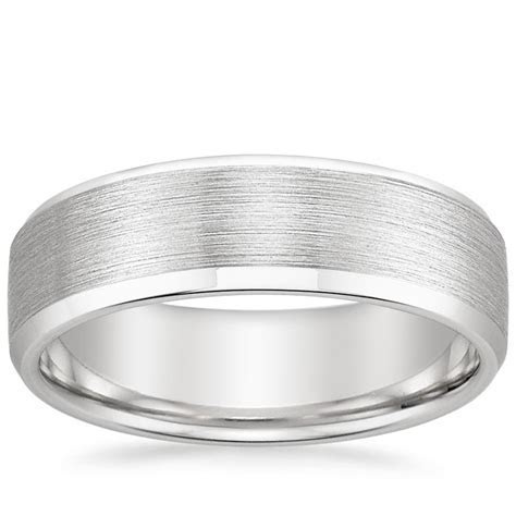 6.5mm Beveled Edge Matte Men's Ring   Brilliant Earth
