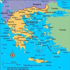 Kedudukan Pulau Santorini aka Thira Dlm Peta Greece