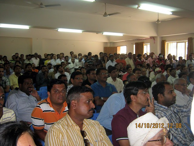 Property buyers at an awareness programme about paying Maharashtra Value Added Tax (MVAT) to builders before October 31 deadline