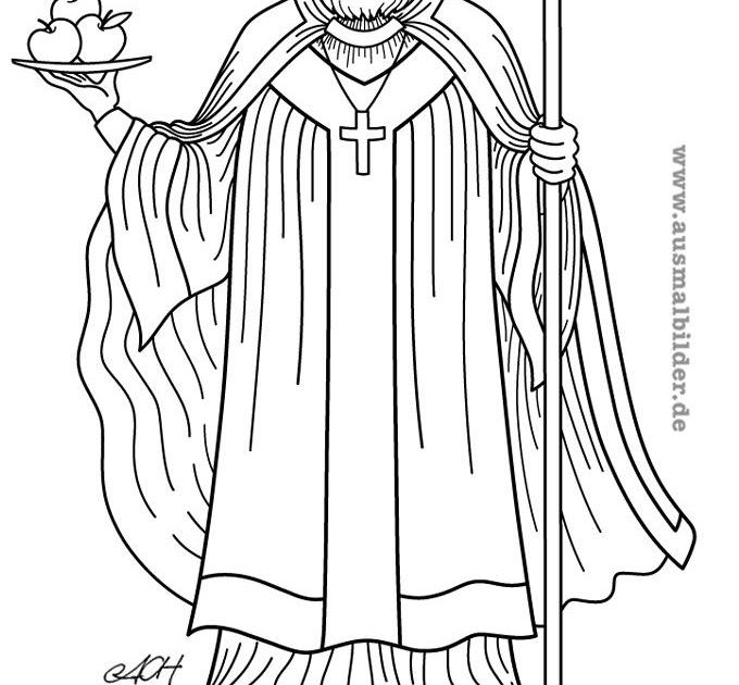 15 Inspirational Ausmalbild Nikolaus Von Myra