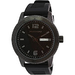 Skechers Watch SR5000 Redondo, Quartz Analog Display, Water Resistant, Day and Date Display, Silicone Band, Black