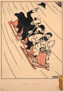 Tintin sciatore all'asta, ma non per 4 soldi! Per 2.4 milioni invece sì