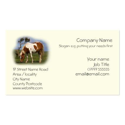 Piebald Pony business cards template