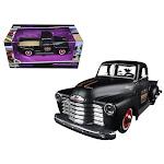 Maisto 32506BK 1 by 25 Scale Diecast 1950 Chevrolet 3100 Pickup Truck Matt Black Outlaws Model Car