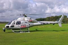 G-SKYN - 1982 build Aerospatiale AS355F1 Ecureuil II, visiting Barton