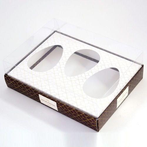 Preço do(a) Caixa Premium Trio Para Ovo De Colher Luxo Marrom C/ 5 Un