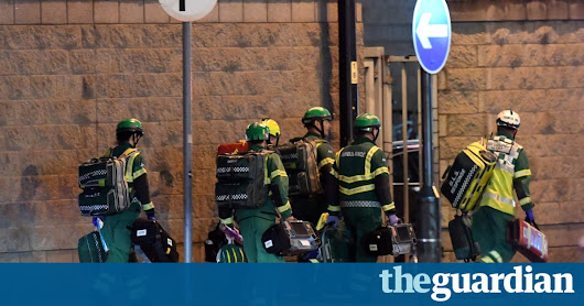 At least 19 dead, 50 injured, in suspected terrorist bombing in Manchester | UK news | The Guardian