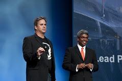 Dave Moore and Thomas Kurian, JavaOne Keynote, JavaOne + Develop 2010, Moscone North