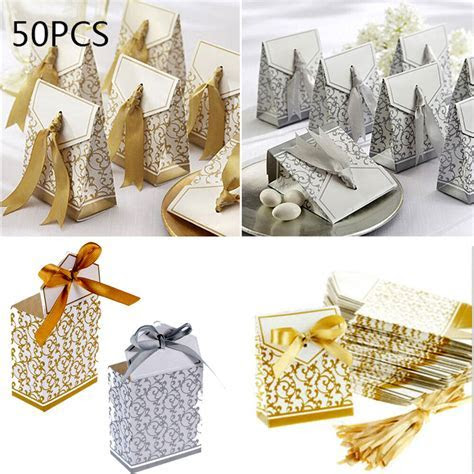 50Pcs Wholesale Candy Chocolate Paper Box Wedding Favor