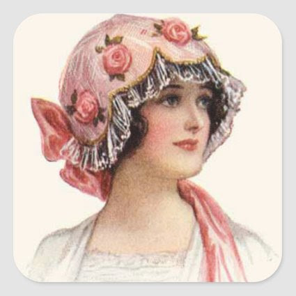 Vintage Woman and Hat Sticker