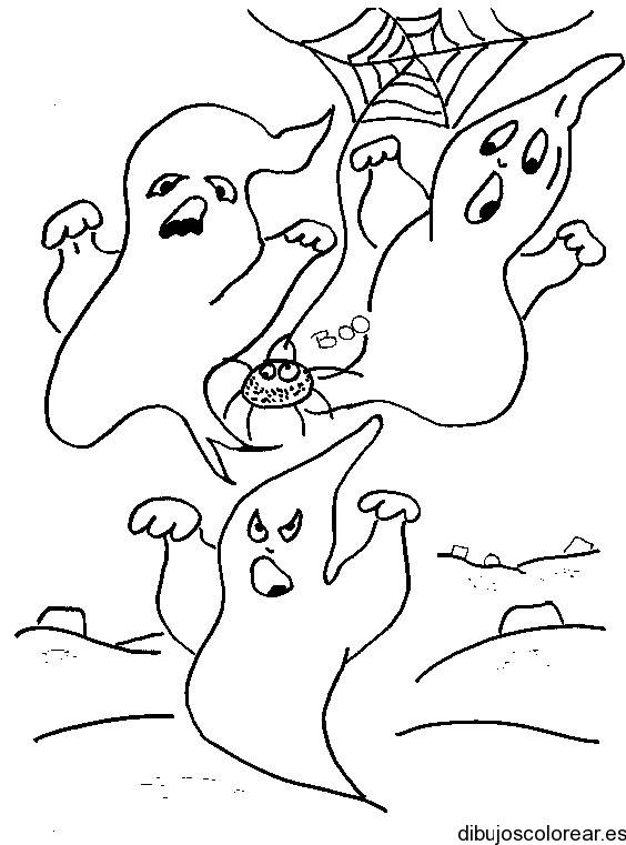 Dibujo De Un Grupo De Fantasmas