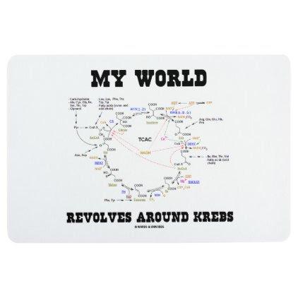 My World Revolves Around Krebs Biochemistry Humor Floor Mat