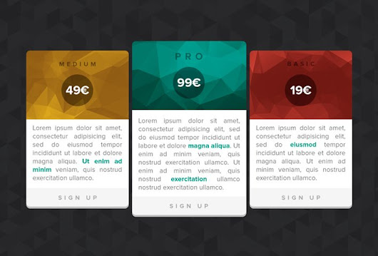 Pricing Tables - 365psd