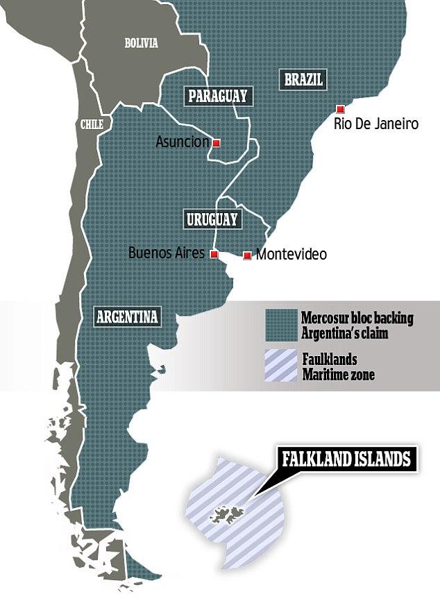Mercosul e bloco das Malvinas