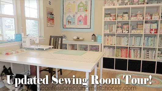 Updated Sewing Room Tour–New Floors! - Confessions of a Homeschooler