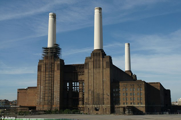 As it was: Battersea Power Station has undergone a huge development, the 1930s London landmark now filled with over a thousand upscale new homes, roof gardens, a gym and much more