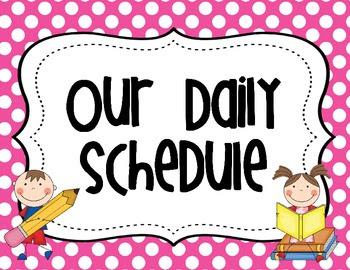Clampitt, Jordan B / Our Daily Schedule!