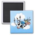 sky diving cow no txt magnet magnet
