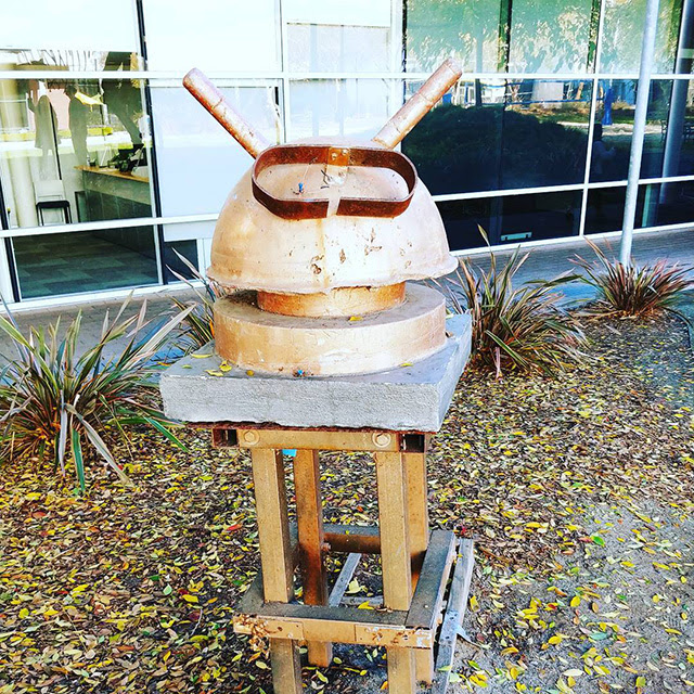 A Rusty Android Head At The GooglePlex
