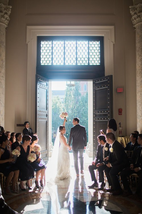 Elegant Summer DC Wedding at Carnegie Institution for Science