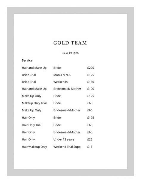 Wedding Makeup Hair Prices London, UK, Worldwide Price List
