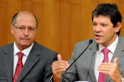 Resultado de imagem para haddad alckmin