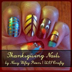 Navy Wifey Peters Aboard the USS Crafty: Thanksgiving Nails