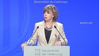 La consellera Meritxell Borràs, en la roda de premsa d'aquest dimarts després de la reunió del Consell Executiu