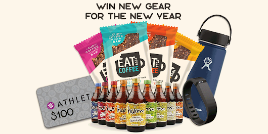 WIN $350+IN CAFFEINATED FOODS & FITNESS GEAR FOR THE NEW YEAR!