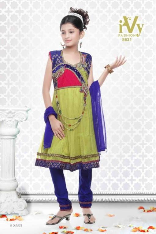 Trade-india-Summer-Anarkali-Beautiful-Cute-Eid-Dresses-2013-For-Kids-Childrens-7