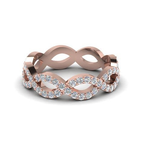 Infinity Diamond Eternity Band For Women In 14K Rose Gold