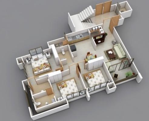 56 Foto Desain Rumah 3 Kamar Tidur Melebar Terbaik Unduh