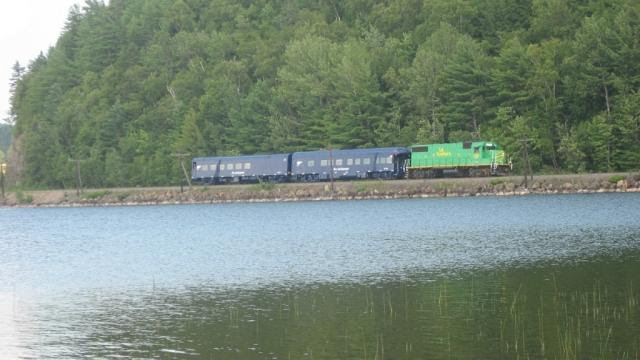 NBSR 2317 and Pan Am Railway passenger cars. Photo by Brian Barchard