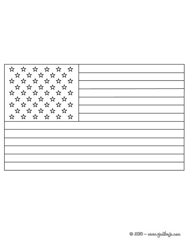 Dibujos Para Colorear Bandera Estados Unidos Eshellokidscom