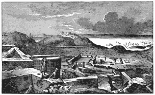View of ruins