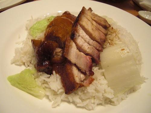 Roast Duck and Crispy Pork Rice