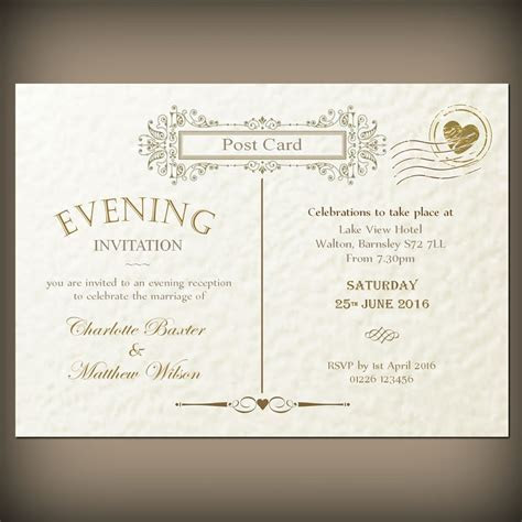 Wedding / evening invitations & envelopes, Vintage
