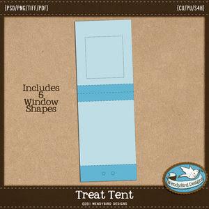 wendy bird treat tent template