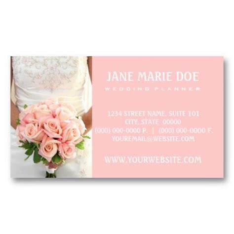 Pink Bridal Roses Business Card   Zazzle.com   Wedding