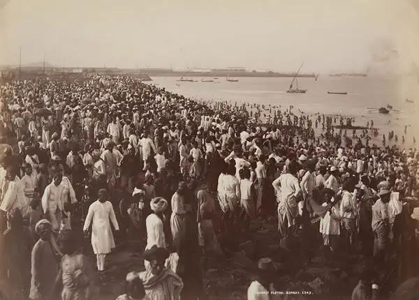 The Cocoanut Festival, Bombay (Mumbai) - 1870
