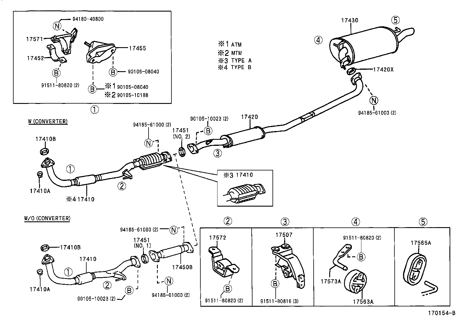 2005 Toyota Camry Exhaust System Diagram