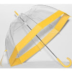 Elite Rain Frankford RB01-YL Clear Bubble Umbrella Yellow Trim