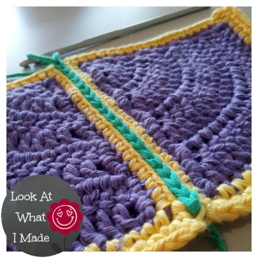 "How to Join Crochet Squares – Completely Flat ""Zipper"" Method"