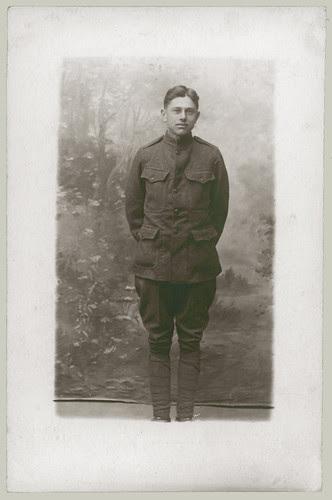 Soldier in studio