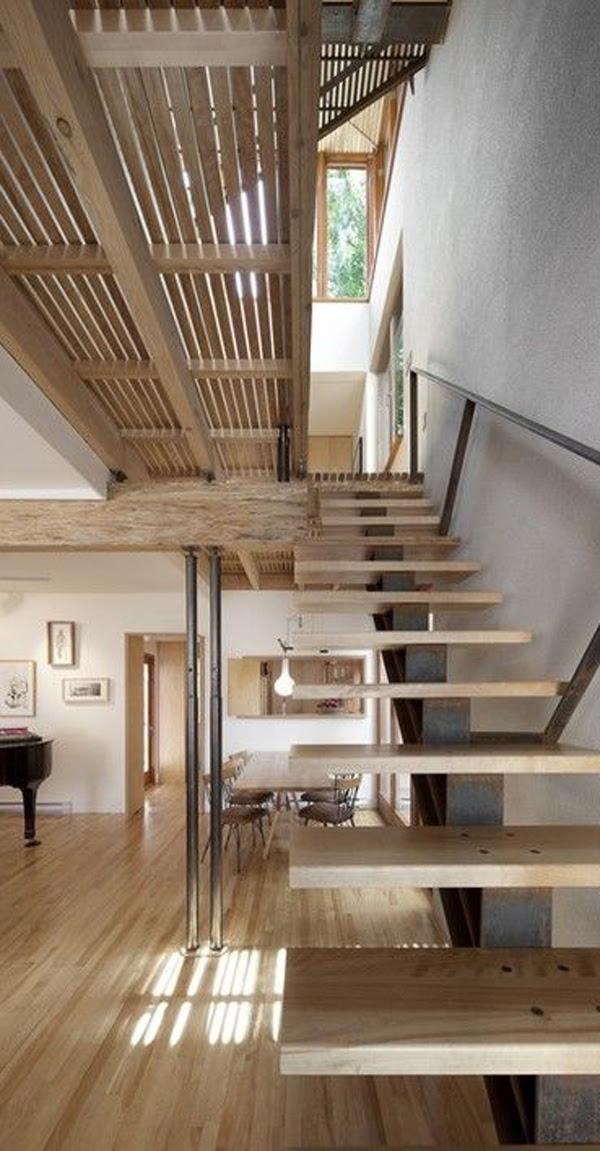 20 Modern And Minimalist Staircase Designs | HomeMydesign